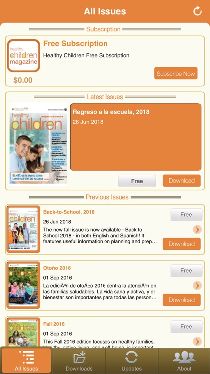 Healthy Children E-Magazine screenshot-0
