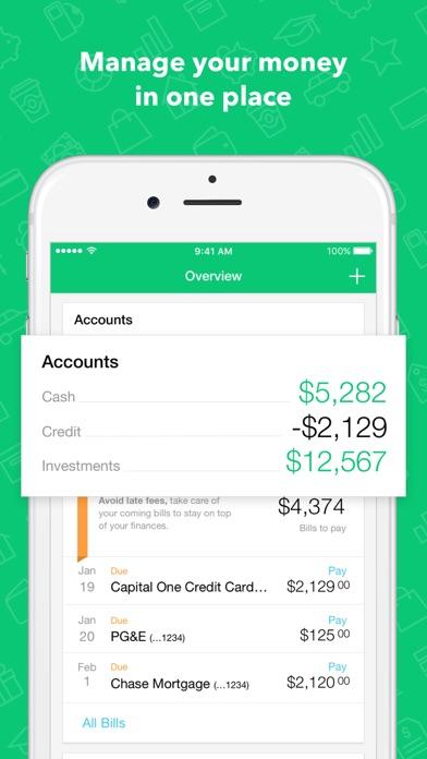 Screenshot 0 for Mint's iPhone app'