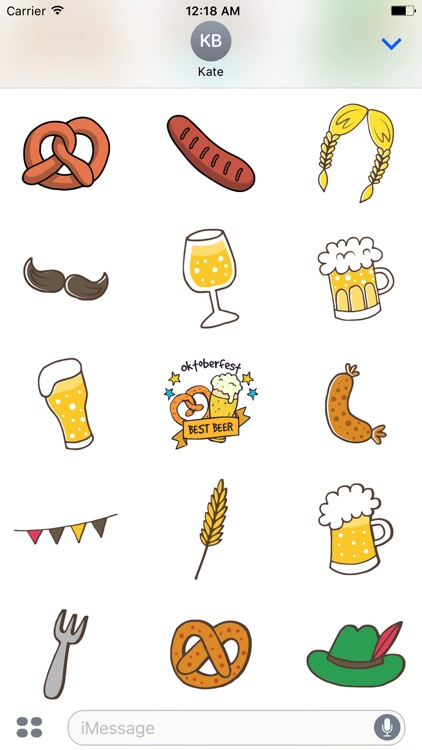 Oktoberfest Beer Festival Stickers for iMessage