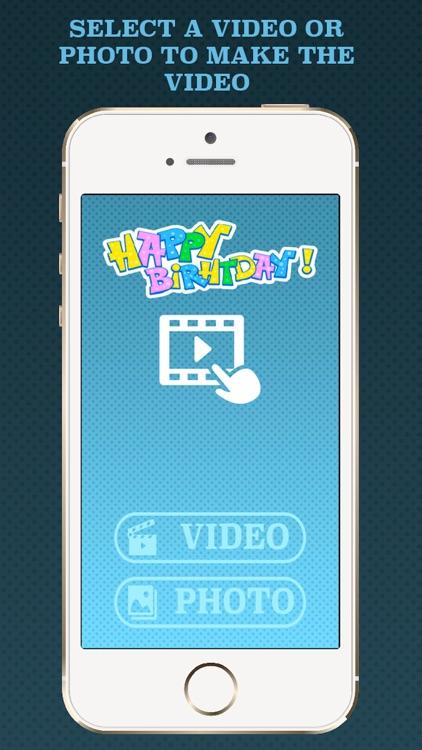 Birthday videos maker