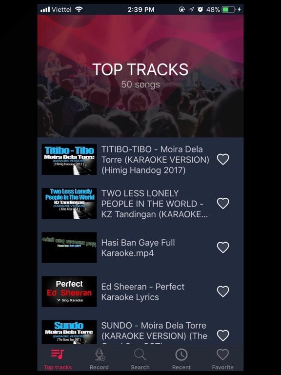 Ipad Screen Shot Karaoke 2018 - Sing & Record 1