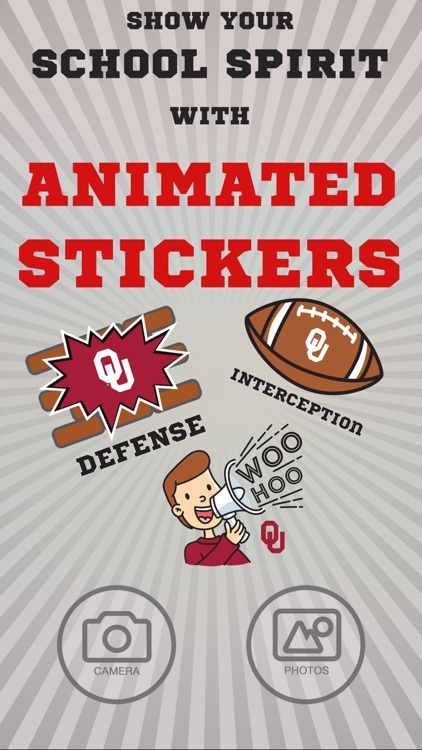 Oklahoma Sooners Animated Selfie Stickers