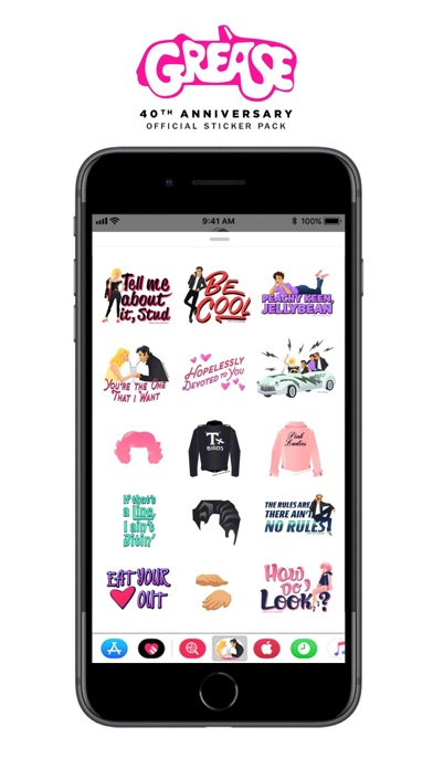 Official Grease Stickers Screenshot