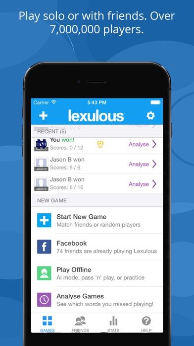 Lexulous Word Game screenshot1