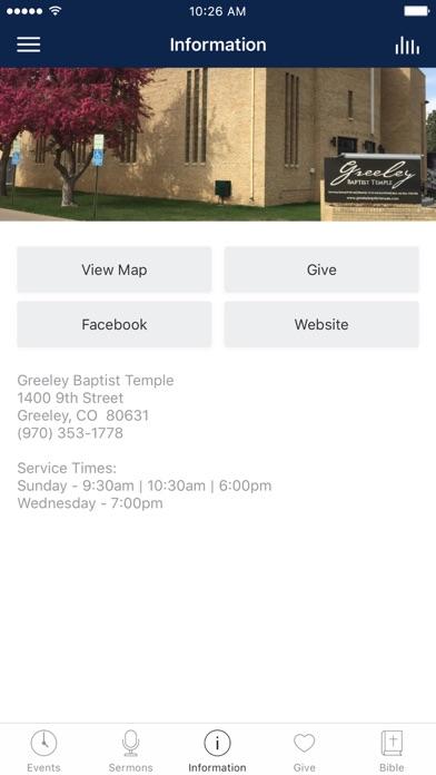 Greeley Baptist Church screenshot 3