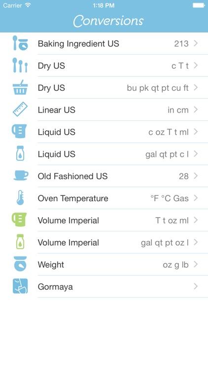 Conversions - Bake & Cook screenshot-0