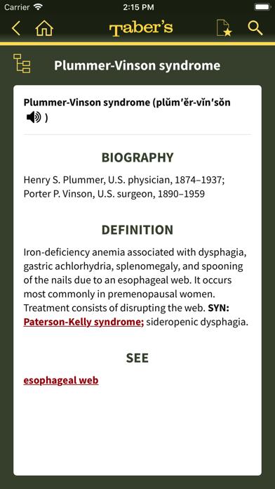 Taber's Medical Dictionary 23 Screenshot