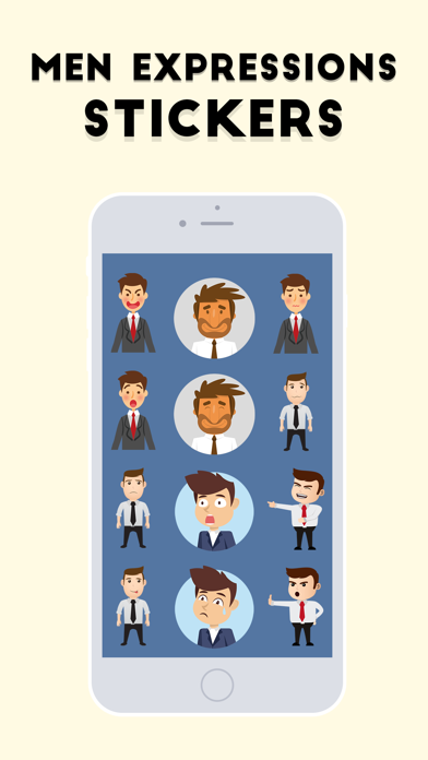 Men Expressions Stickers screenshot two