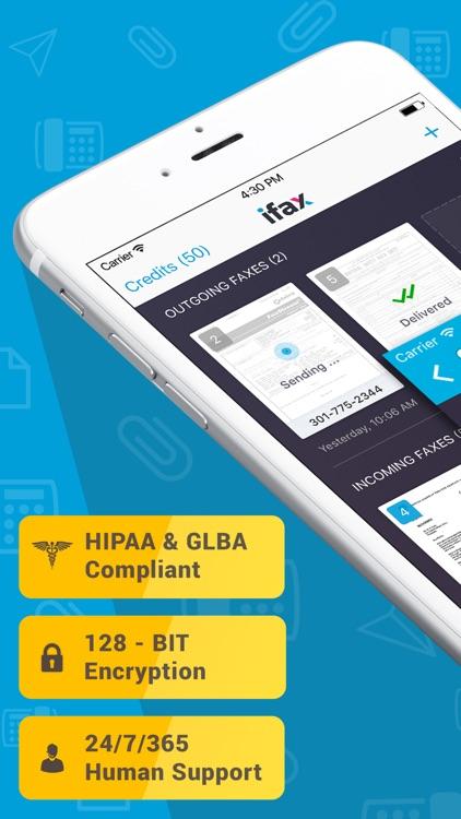 iFax: Send fax receive fax app screenshot-0