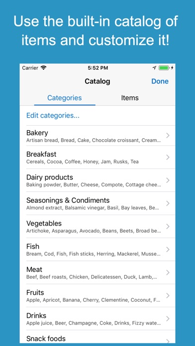 Shoppylist Pro (Grocery List) Screenshot