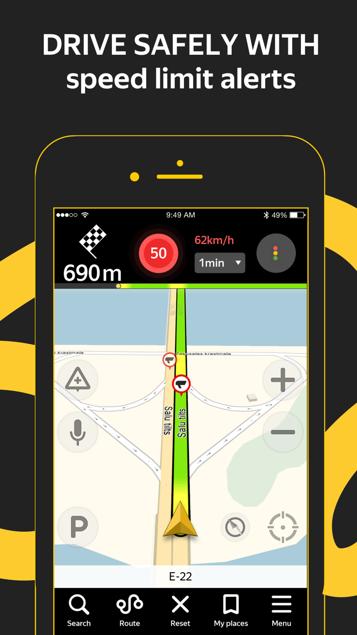 Yandex.Navi – navigation, maps Screenshot