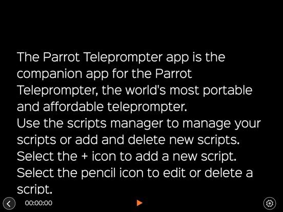 Familienzimmer: Parrot Teleprompter App