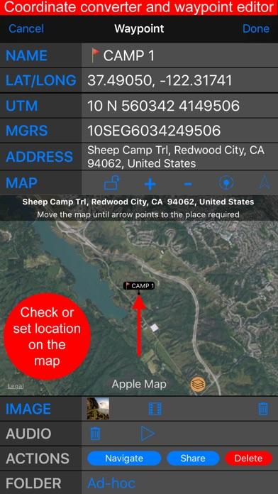 Compass 55. Land nav tool kit. app image