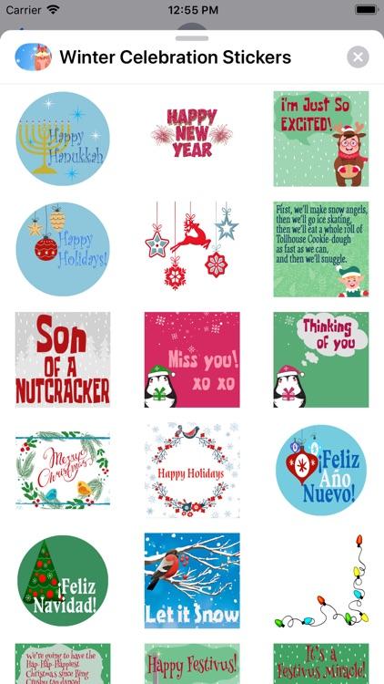 Winter Celebration Stickers