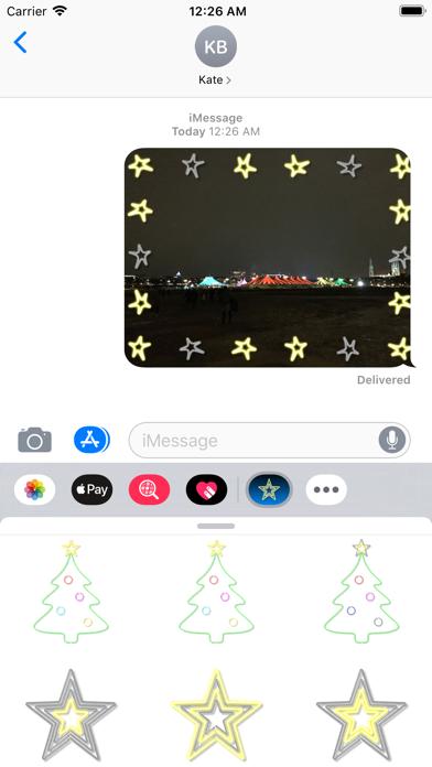 Christmas Neon Lights animated screenshot two