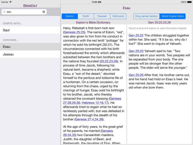 BibleDict for iPad