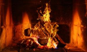 Fireplace HD TV