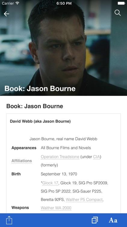 FANDOM for: Bourne screenshot-3