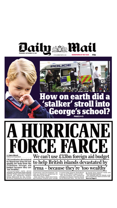Daily Mail Newspaper Screenshot