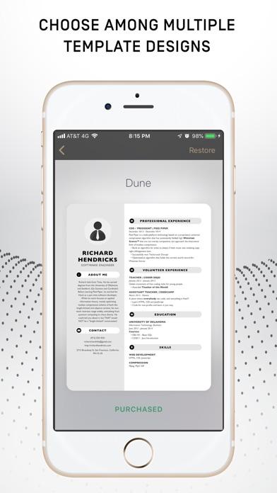 Resumer: CV & Resume builder screenshot 4
