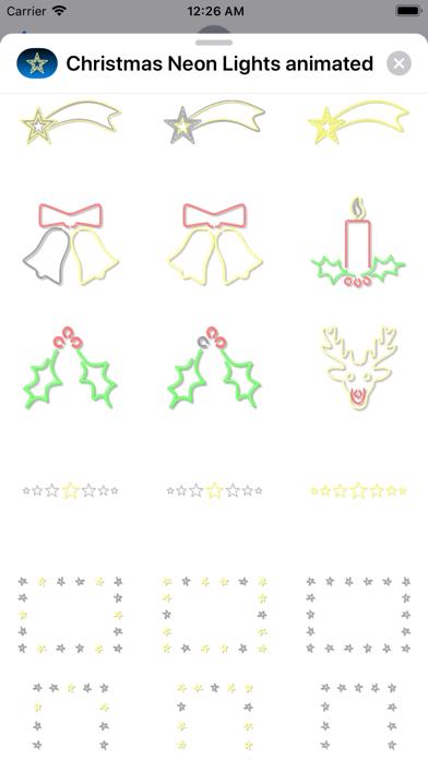 Christmas Neon Lights animated screenshot three