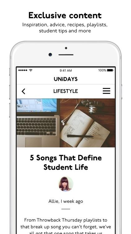 UNiDAYS: Student Deals