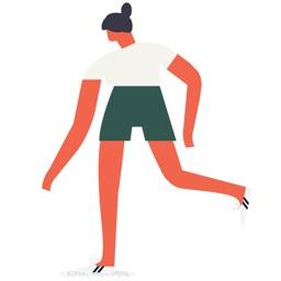 I'm A Runner Running Stickers