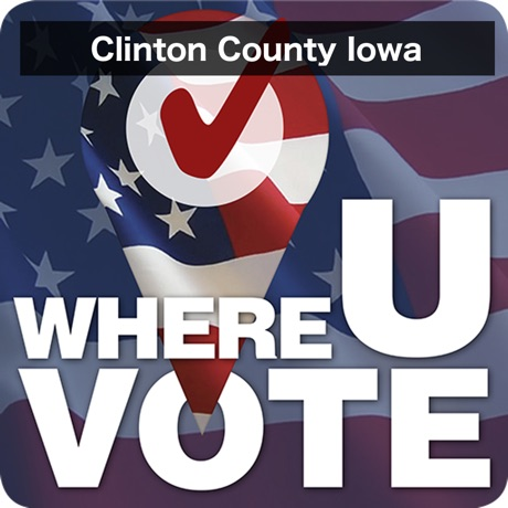 WhereUVote IA - Clinton County App Icon