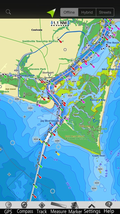 Carolina N GPS Nautical Charts