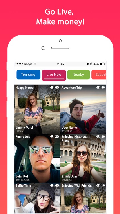 TipIt - Go Live, Chat-rooms