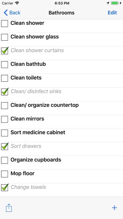 Housekeeping List