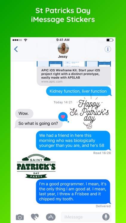 St. Patrick's Day Sticker Emo screenshot-3