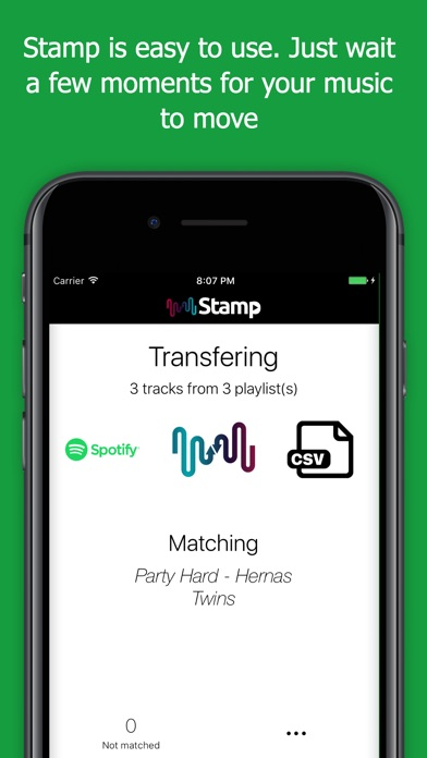 STAMP Transfer Music Playlists app image