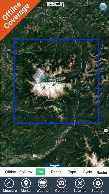 Mount Ranier National Park gps and outdoor map screenshot-4