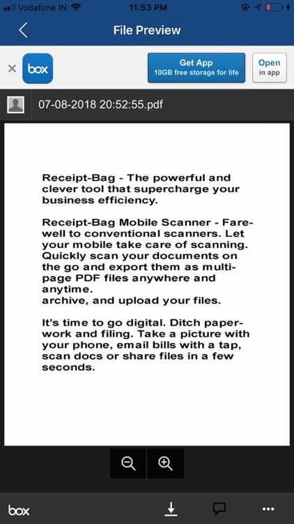 Receipt-Bag Document Scanner screenshot-4