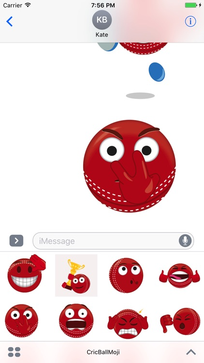 Cricket Ball Emoji - Stickers & Animations