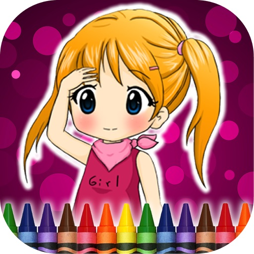 Coloring Book Girls