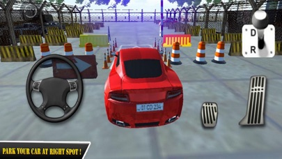Red Car Parking Skill 18 screenshot one