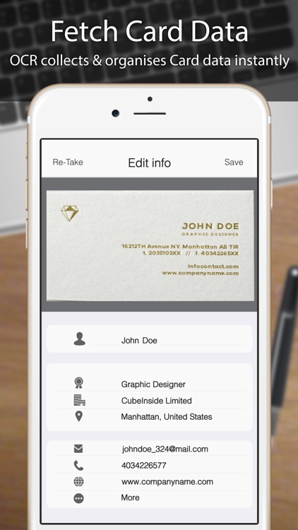 Business card scanner reader by odyssey apps ltd business card scanner reader colourmoves
