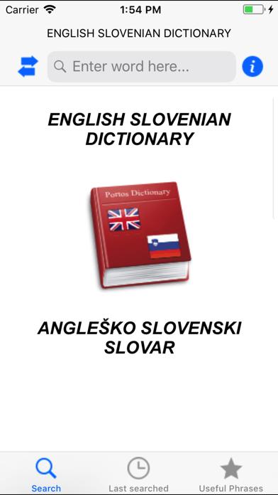 Eng Slo, Slo Eng dictionary screenshot one