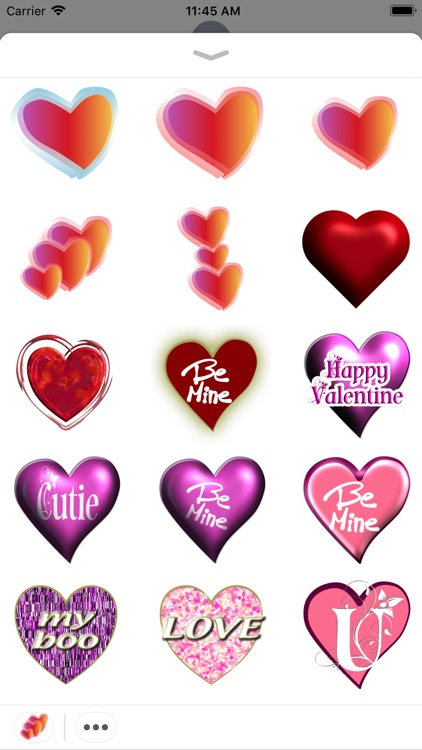Love Hearted Stickers