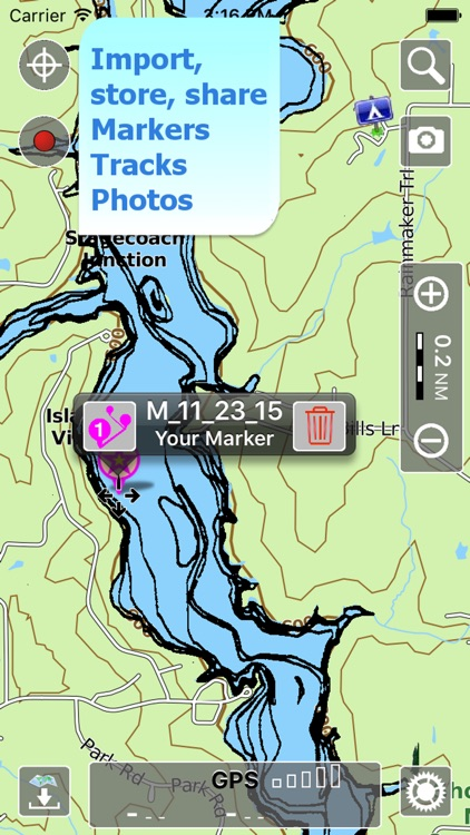 Aqua Map Illinois Lakes GPS HD screenshot-3