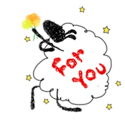 Lovely And Funny Sheep Sticker