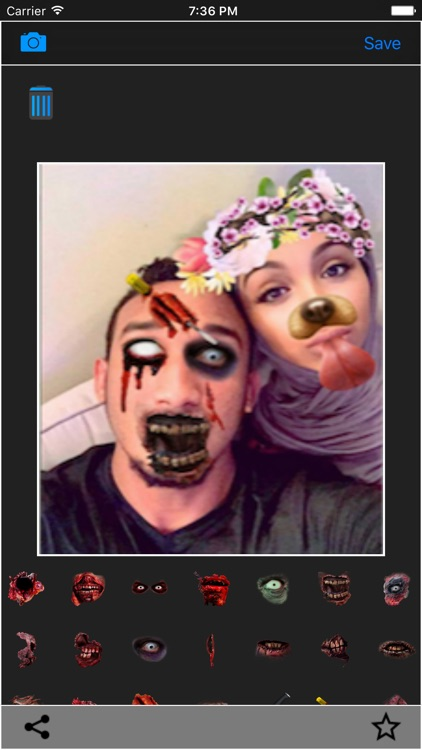 Zombie Face Filters for Snapchat