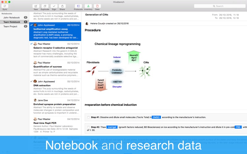 Hivebench – Lab Notebook screenshot 2