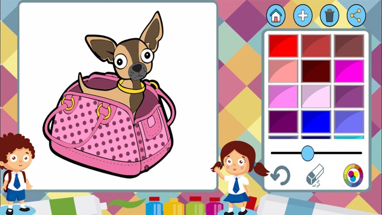 Dogs cats paint coloring book screenshot-3