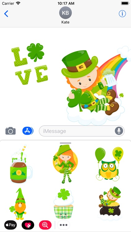 St.Patrick Lucky Green Sticker