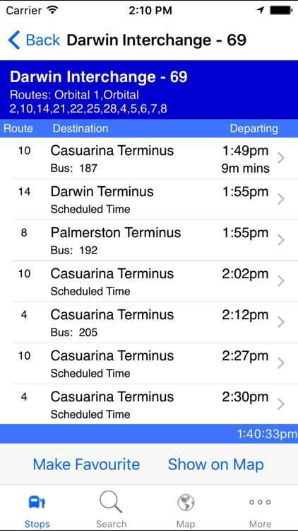 NT Bus Tracker