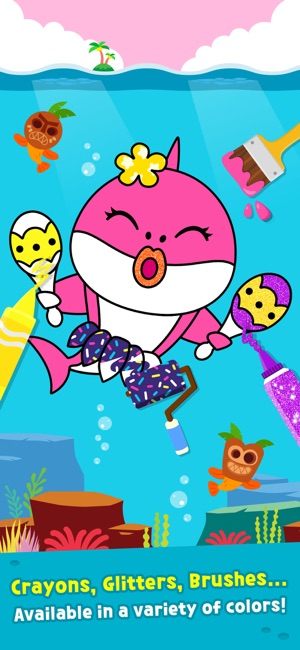Baby Shark Coloring Book On The App Store