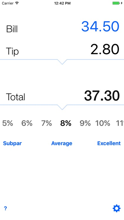 Tip calculator 'Tipping made easy'
